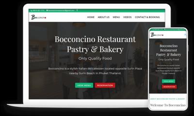 Boccncino Restaurant Portfolio Responsive Web Design 1000px