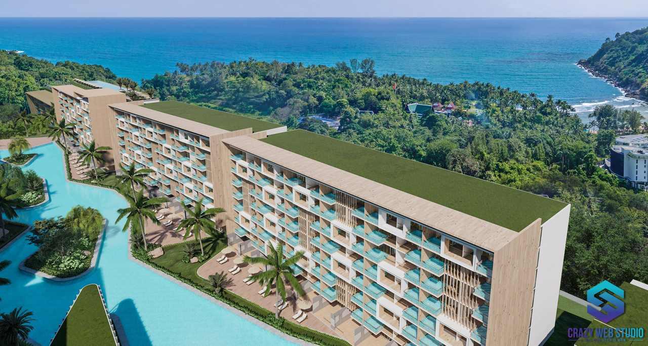 Condominium Project 3d Crazy Web Studio Rendering Paradise Beach 3