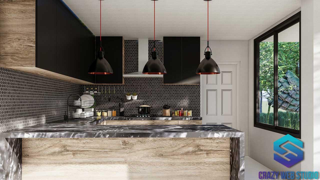 Interior Deisng Kitchen PHUKET 3D DESIGN CRAZY WEB STUDIO Thailand 01
