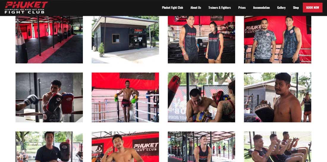 Phuket Fight Club Gallery Crazywebstudio Porfolio